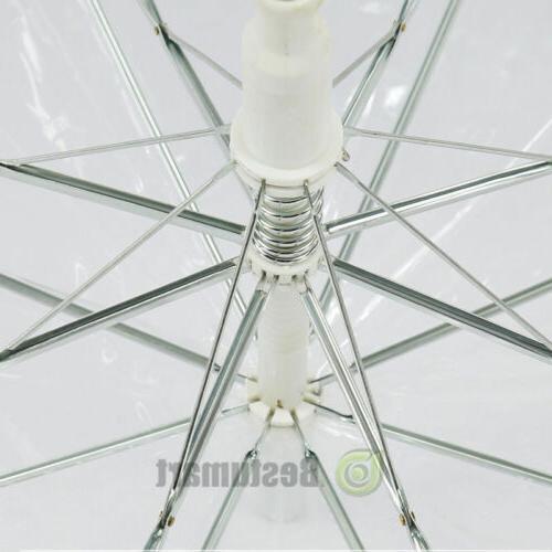 Large Transparent See Through White Handle