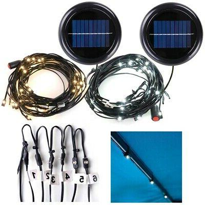 30LED Solar String Light Fit 6-Rib 8ft 9ft Aluminum Outdoor