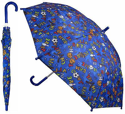 "32"" Children Kid Blue Sport Umbrella - RainStoppers Rain/S"