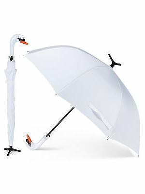40 width white polyester swan bird stick