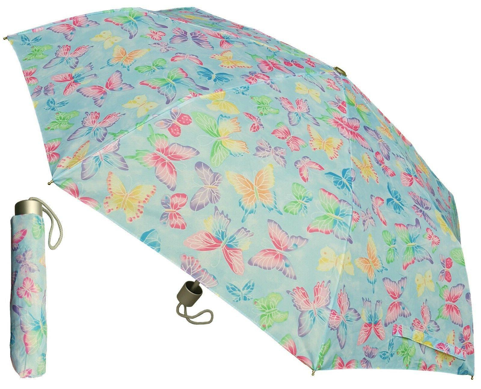 "42"" Arc Butterfly Print Super Mini Rain Umbrella - RainStopp"