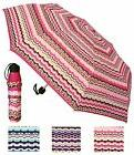 "42"" Arc Pink Stripe,Super Mini Rain Umbrella - RainStoppers"