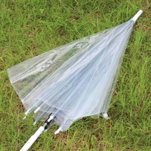 "46"" Arc Clear Dome Style Umbrella RainStoppers Fashion Bubble Travel"