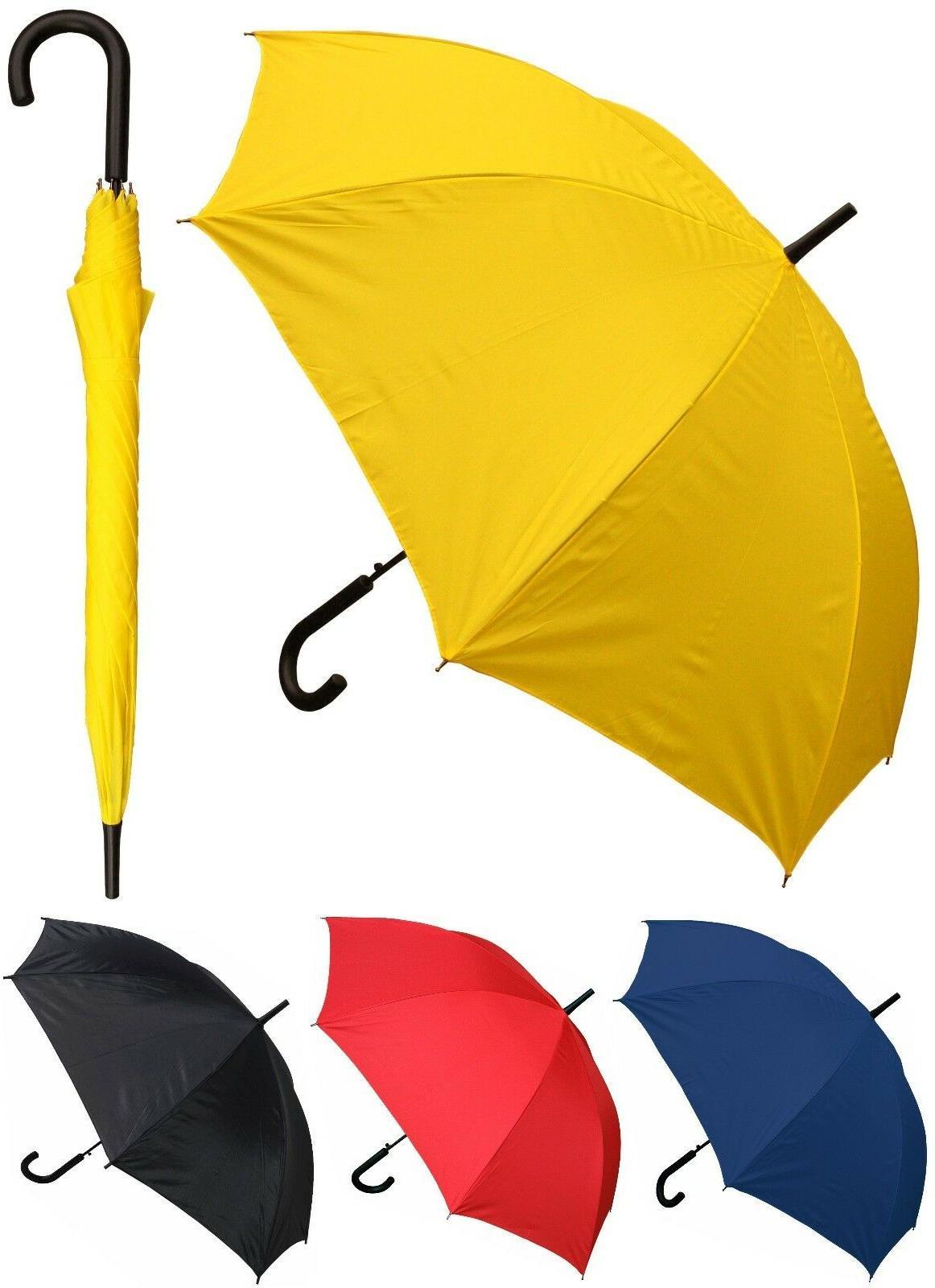 "Lot of 12 - 48"" Arc Doorman, Black Handle Umbrellas - RainSt"