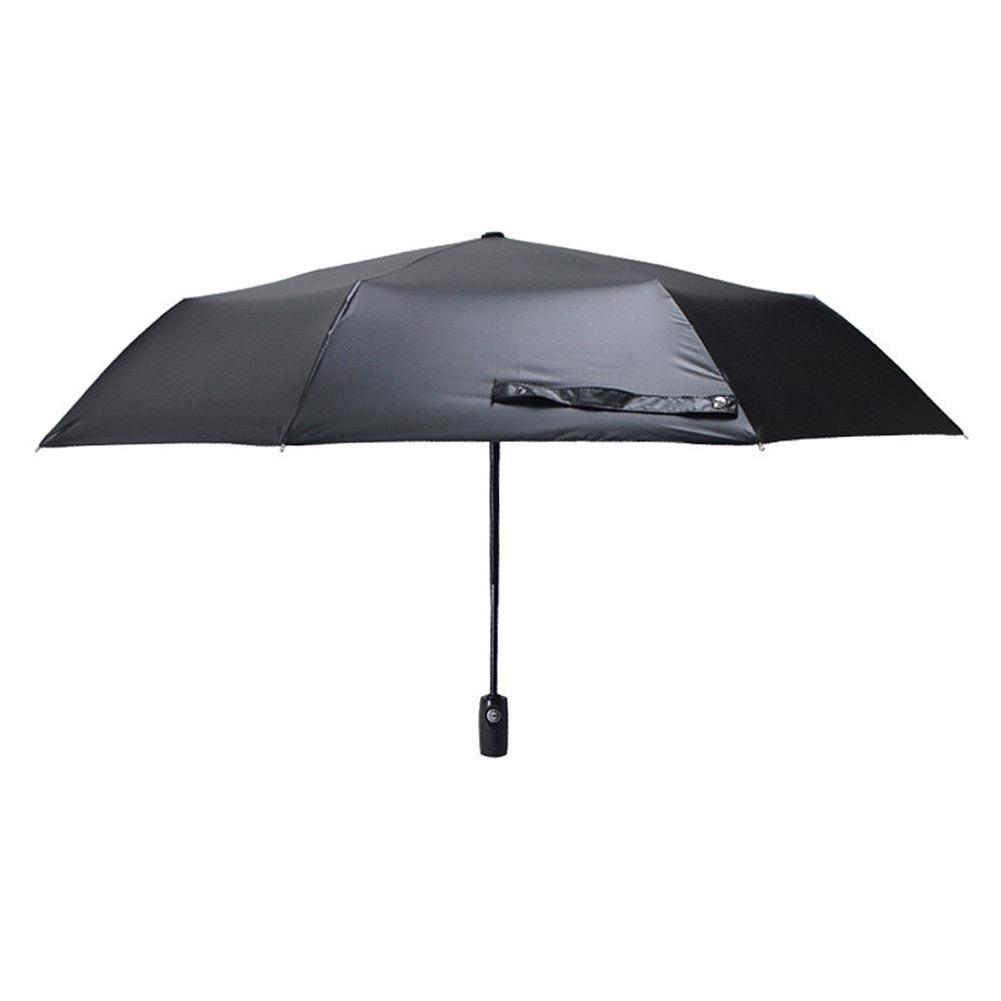 50+ Sun Rain Protection Windproof Flower 3 Folding Umbrella