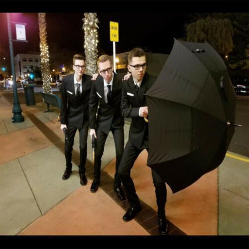52''Wooden Large Double Golf Umbrella Men Women Auto Open Stick