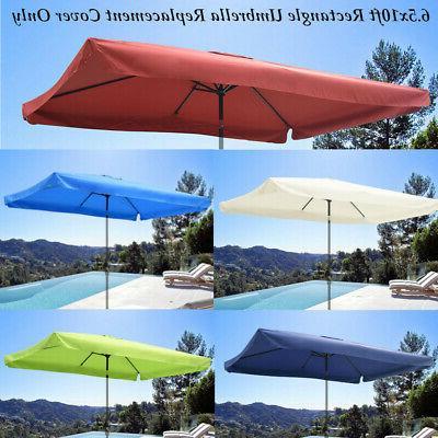 6 5x10ft patio outdoor umbrella canopy top