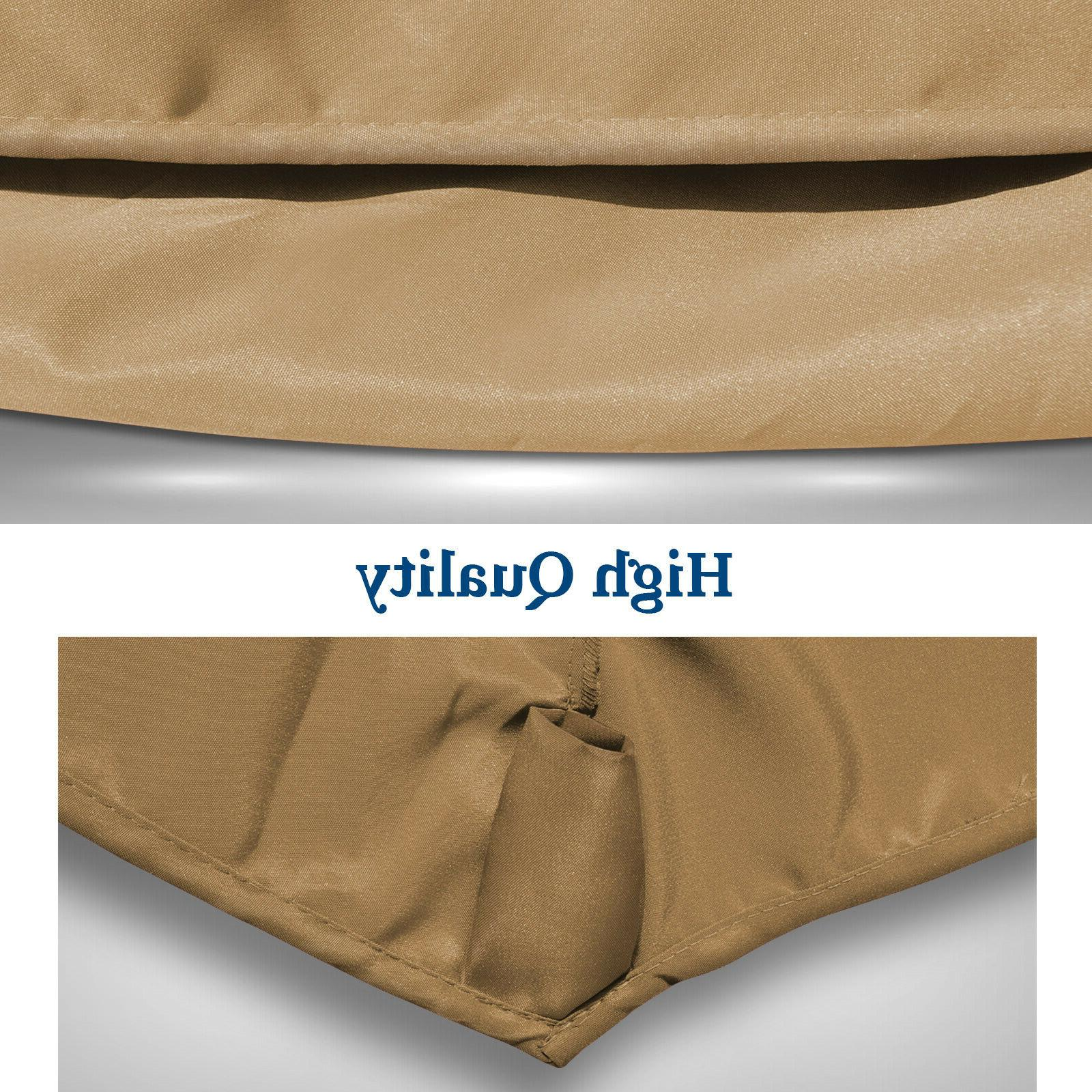 6/8/9/10/11.5/13ft Cover 6rib Replacement Polyester Canopy