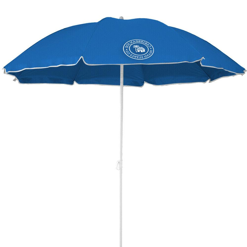 6 ft basic beach umbrella multiple colors