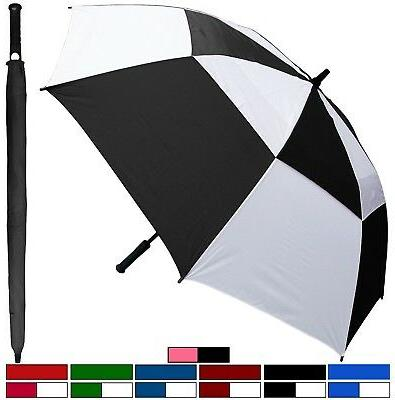 "60"" Arc Fiberglass WindBuster Golf Auto-Open Umbrella - Ra"