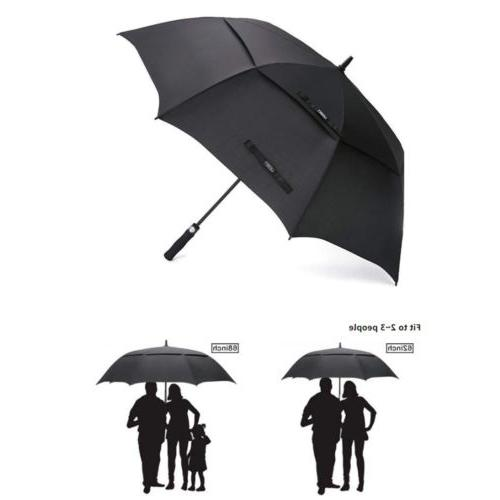 """62""""/68"""" Extra Large Golf Umbrella Automatic Open Double Cano"""