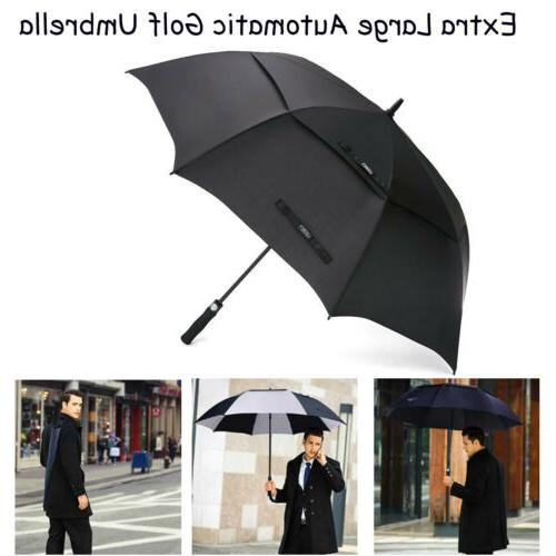 "62""/68"" Extra Large Golf Umbrella Automatic Open Double Cano"