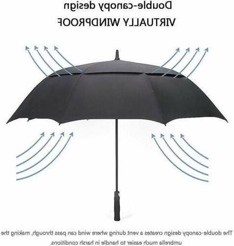62'' Auto Open Golf Umbrella Canopy Windproof