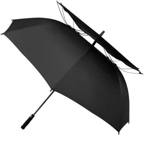 "62"" Automatic Open Golf Umbrella Anti UV Sun Protection Larg"