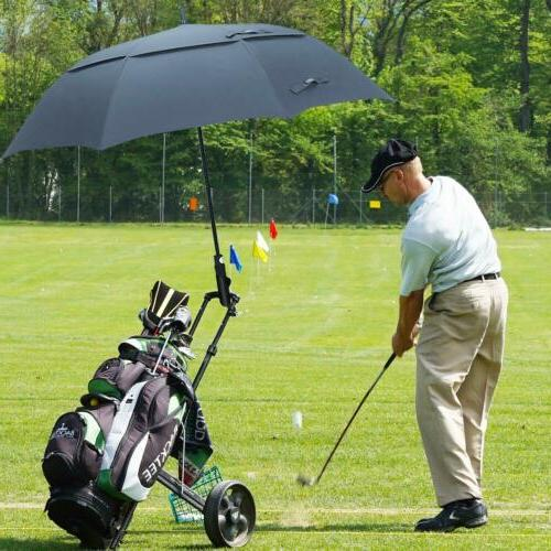 62'' Golf Umbrella Automatic Double Canopy Unisex