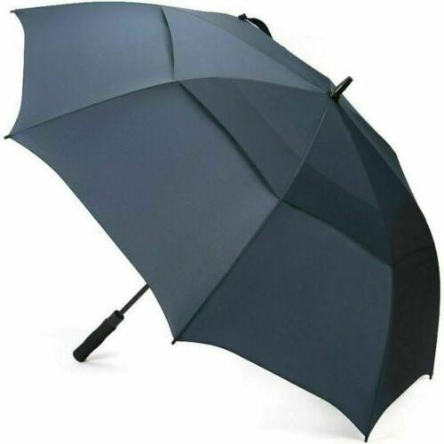 Oversize 62'' Golf Umbrella Auto Open Double Canopy Unisex B