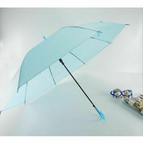 6Colors Umbrella Long Handle Stick Rain Umbrellas