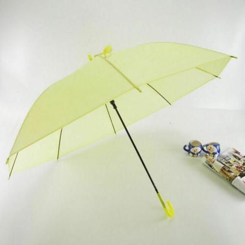 6Colors Transparent Clear Umbrella Long Handle Rain Umbrellas