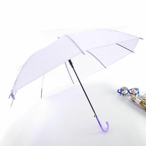6Colors Umbrella Long Straight Stick Rain Umbrellas
