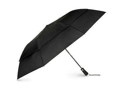 Totes Isotoner 7112 Black Umbrella Golf Size Auto Vented Win