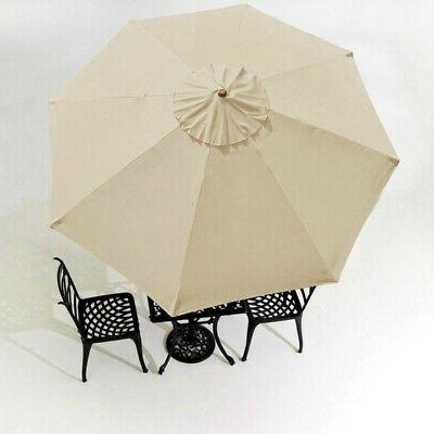 10' Umbrella Cover Top 8 Rib Deck Outdoor Canopy Garden Beac