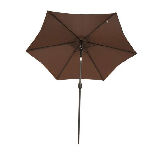 8/9/10FT Umbrella Canopy Market Multi-Color Tilt W/Crank