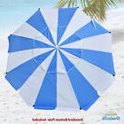 8 ft Premium Heavy Duty Beach Umbrella with Fiberglass Ribs
