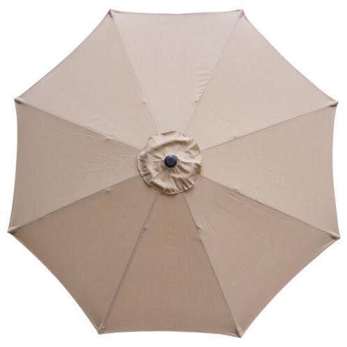 Outdoor Market Table with Button 9 ft Umbrella Tilt Crank