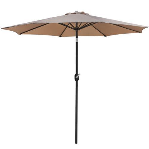 Outdoor Market Table Umbrella with ft Umbrella Crank