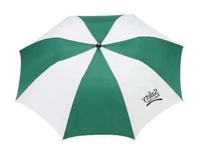 9wtc10 umbrella 42 in green white polyester