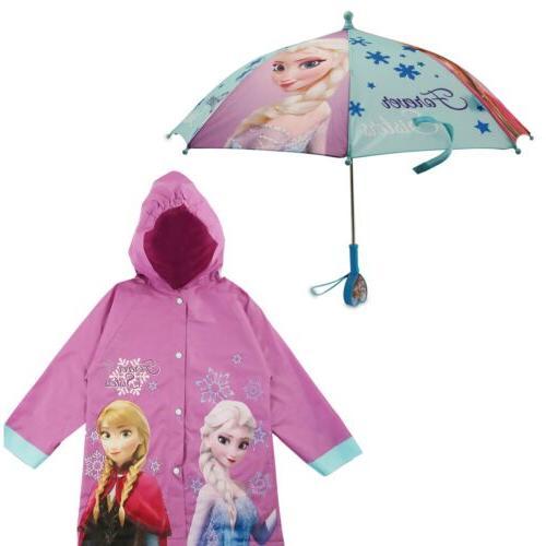 Disney Frozen Character Slicker and Umbrella Rainwear Set, L