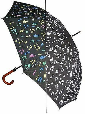 "Lot of 12 - 46"" Color-Changing Music Notes Auto Umbrella-Rai"