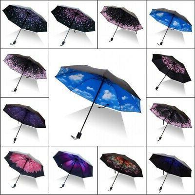 Folding Portable Waterproof Anti-UV Rain Sun Compact Umbrell