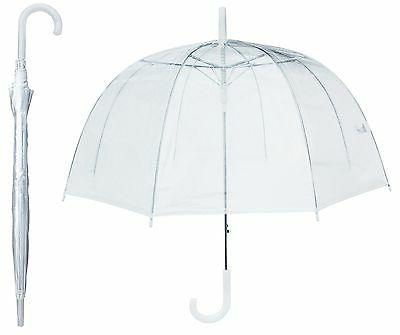 "46"" Arc Clear Full Dome Style Umbrella - RainStoppers Rain F"
