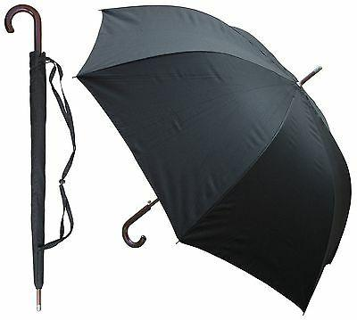"60"" Auto-Open Black Doorman Umbrella - RainStoppers Rain/Sun"