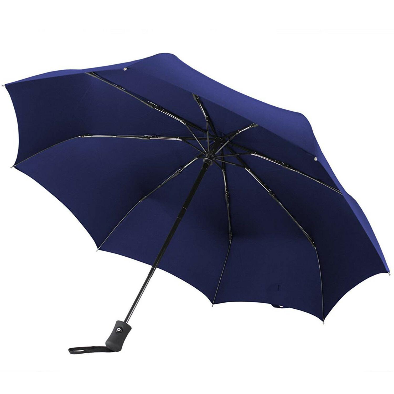 Auto Open Close Folding Compact Windproof Travel Women Umbrella