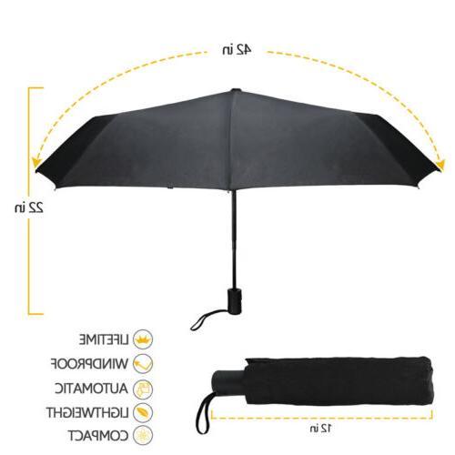 Automatic Travel Umbrella Auto 3 Folding Umbrella