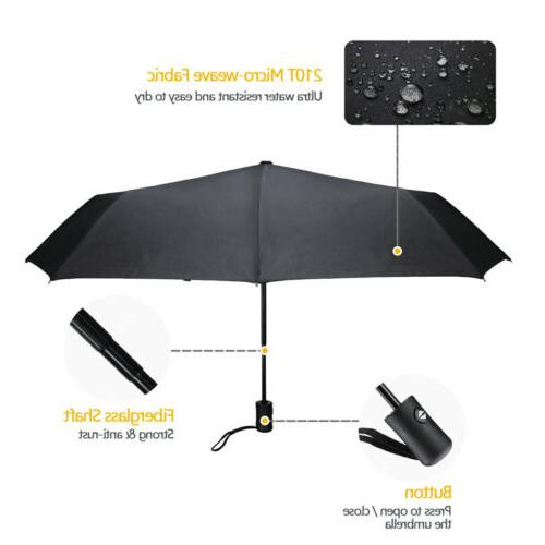 Large Auto Close Umbrella Compact Windproof Waterproof