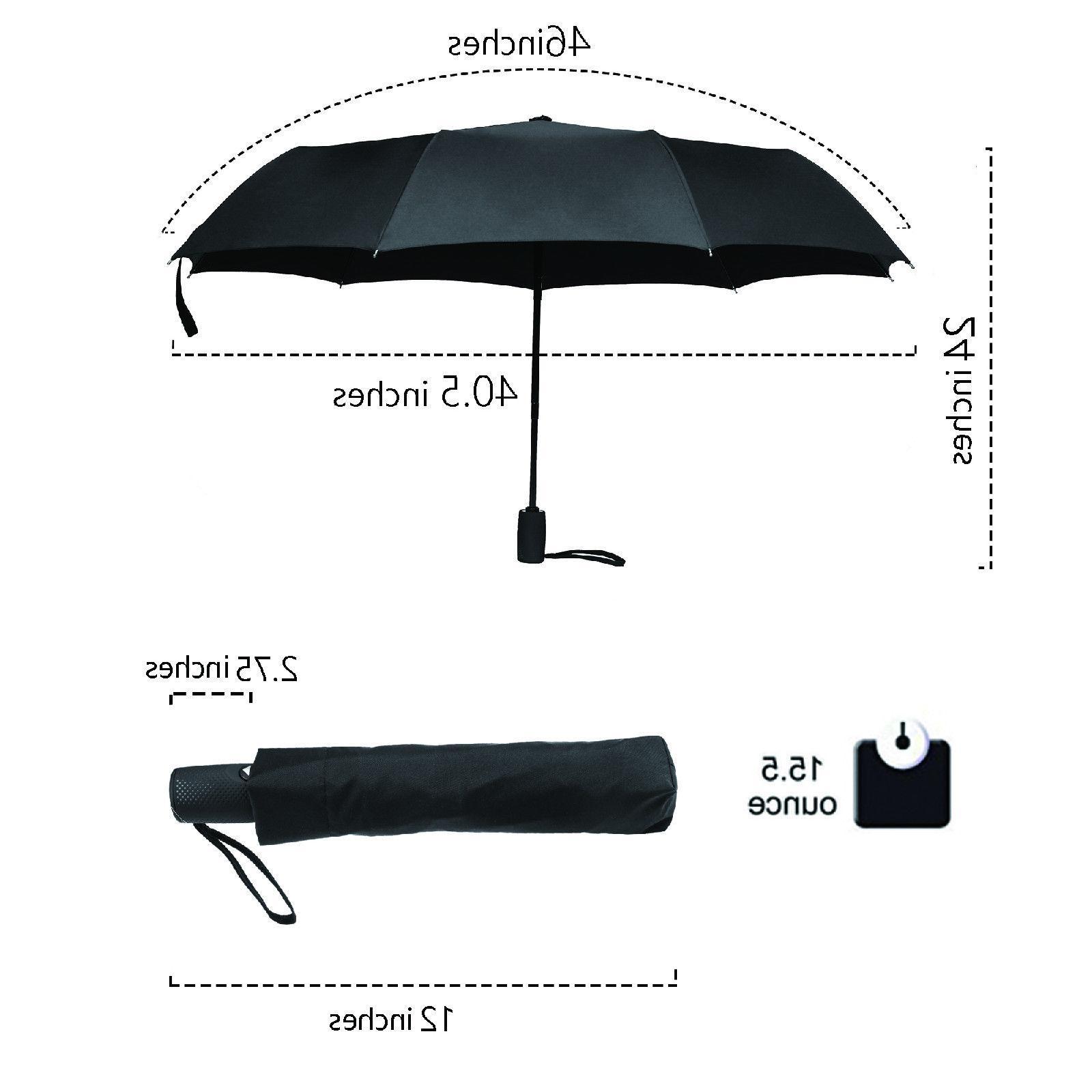 Bagail Close Travel Umbrellas Strong Windproof umbrellas