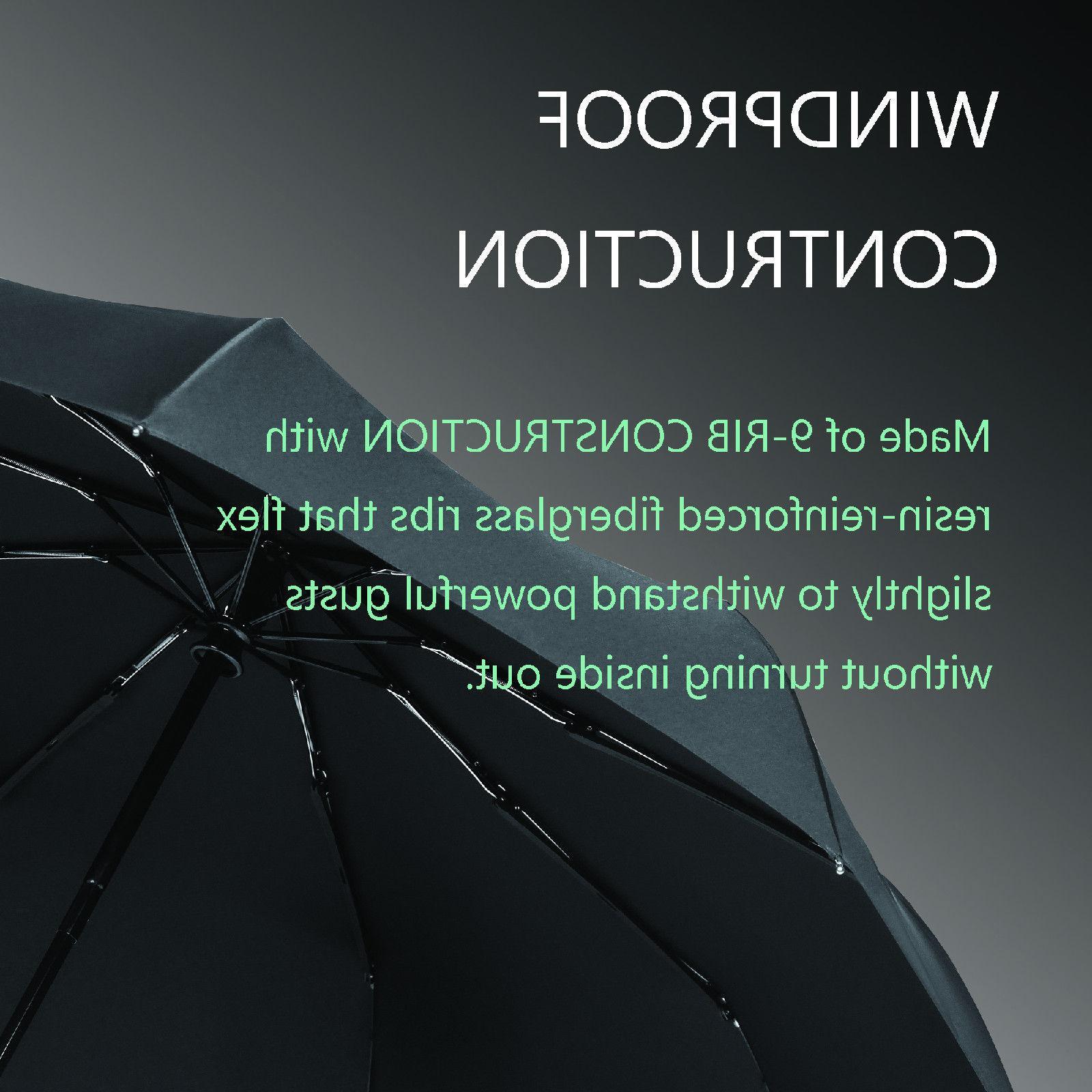 Bagail Open Close Travel Umbrellas Windproof