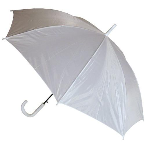 RainStoppers Auto Open European Hook Handle Umbrella, Green,