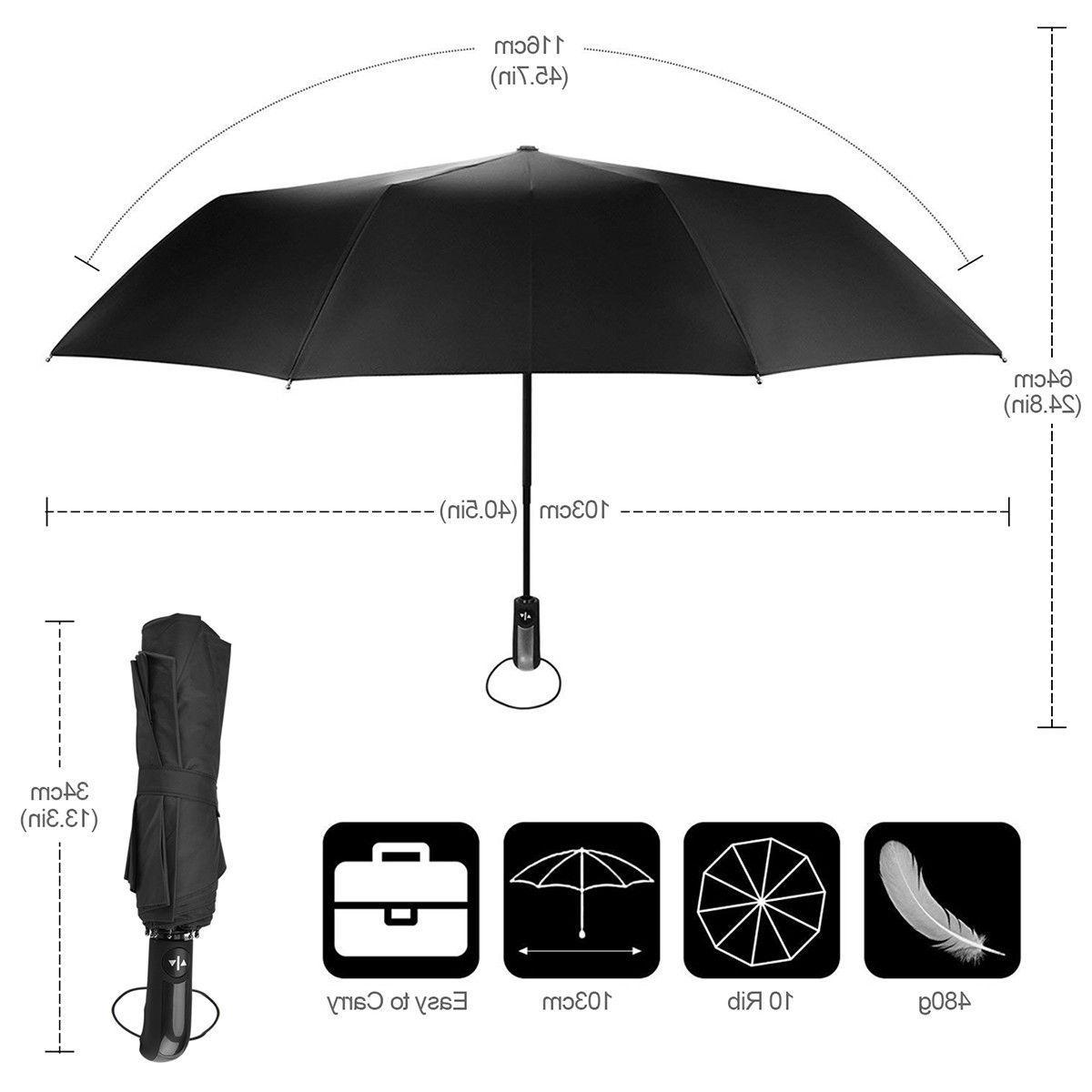 Automatic Umbrella Windproof Auto Umbrella 3 Waterproof