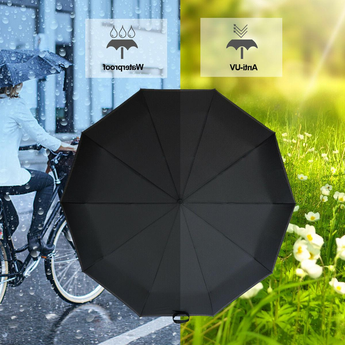 Automatic Compact Umbrella Windproof Auto 3 Waterproof