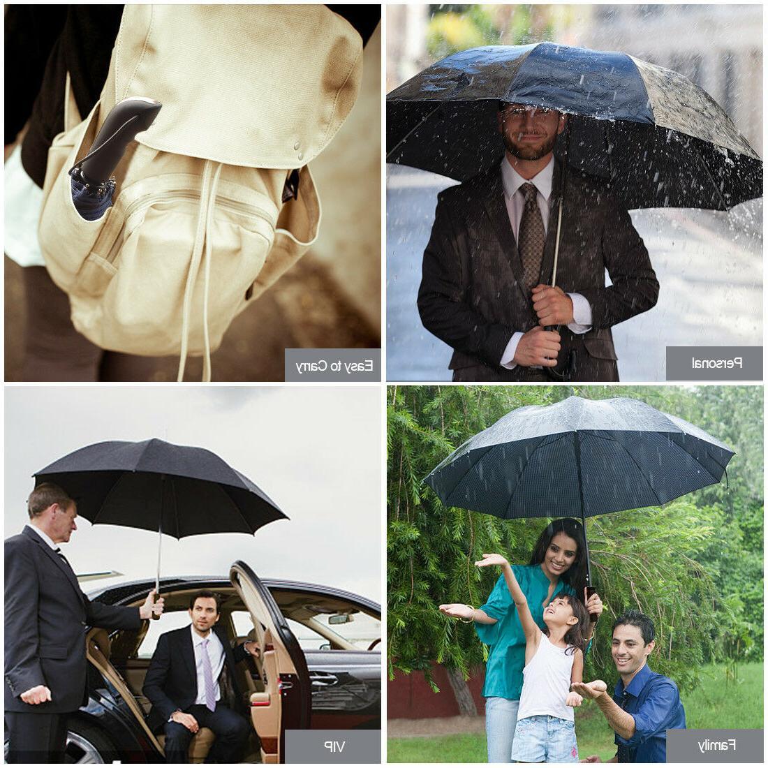 Automatic Umbrella Windproof Auto Umbrella 3 Waterproof Men Women