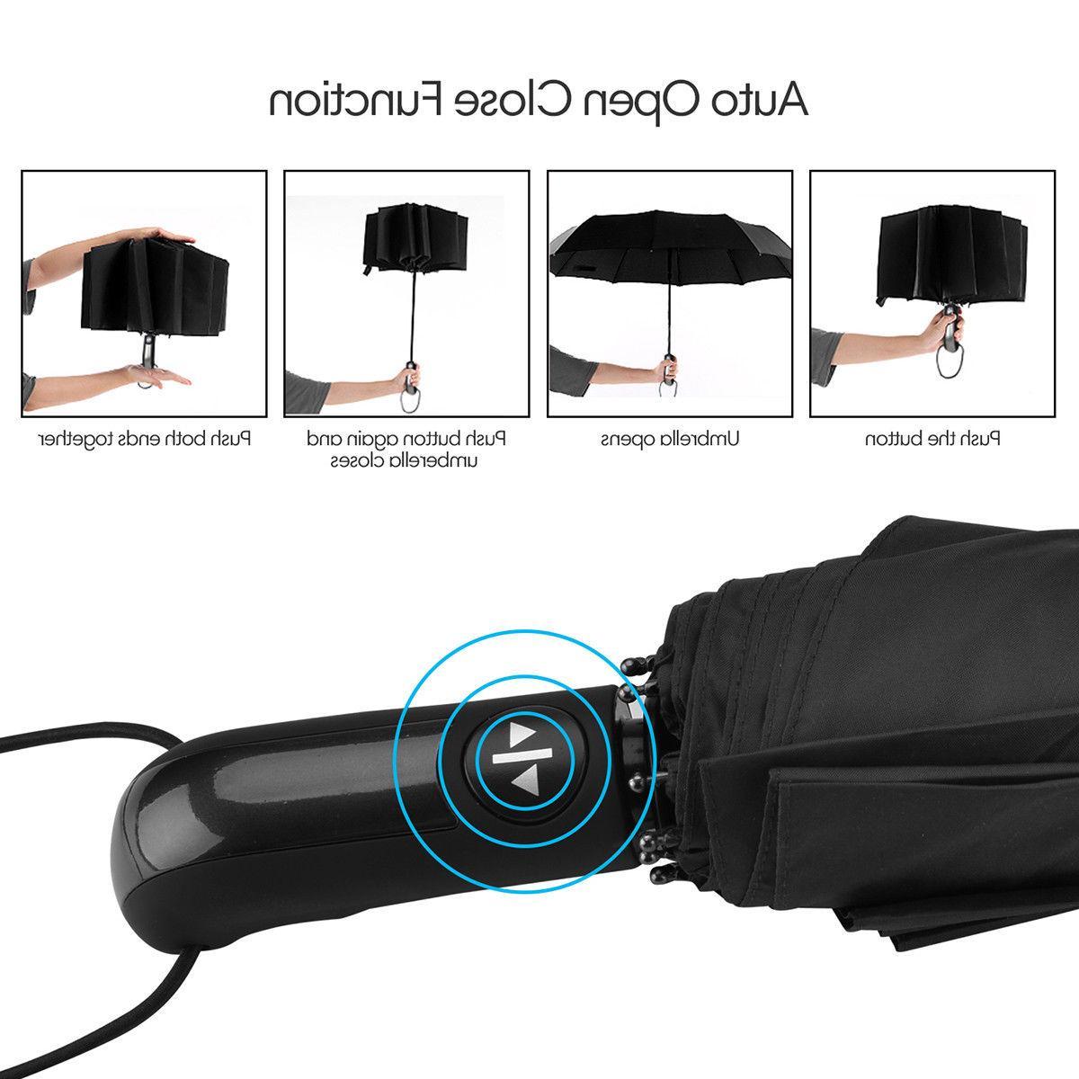Automatic Umbrella Windproof Auto Umbrella Waterproof Men Women