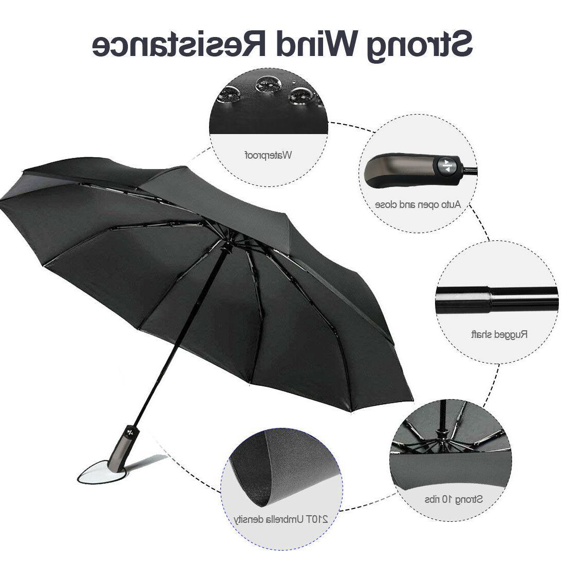 Automatic Umbrella Windproof Auto Umbrella Waterproof Men