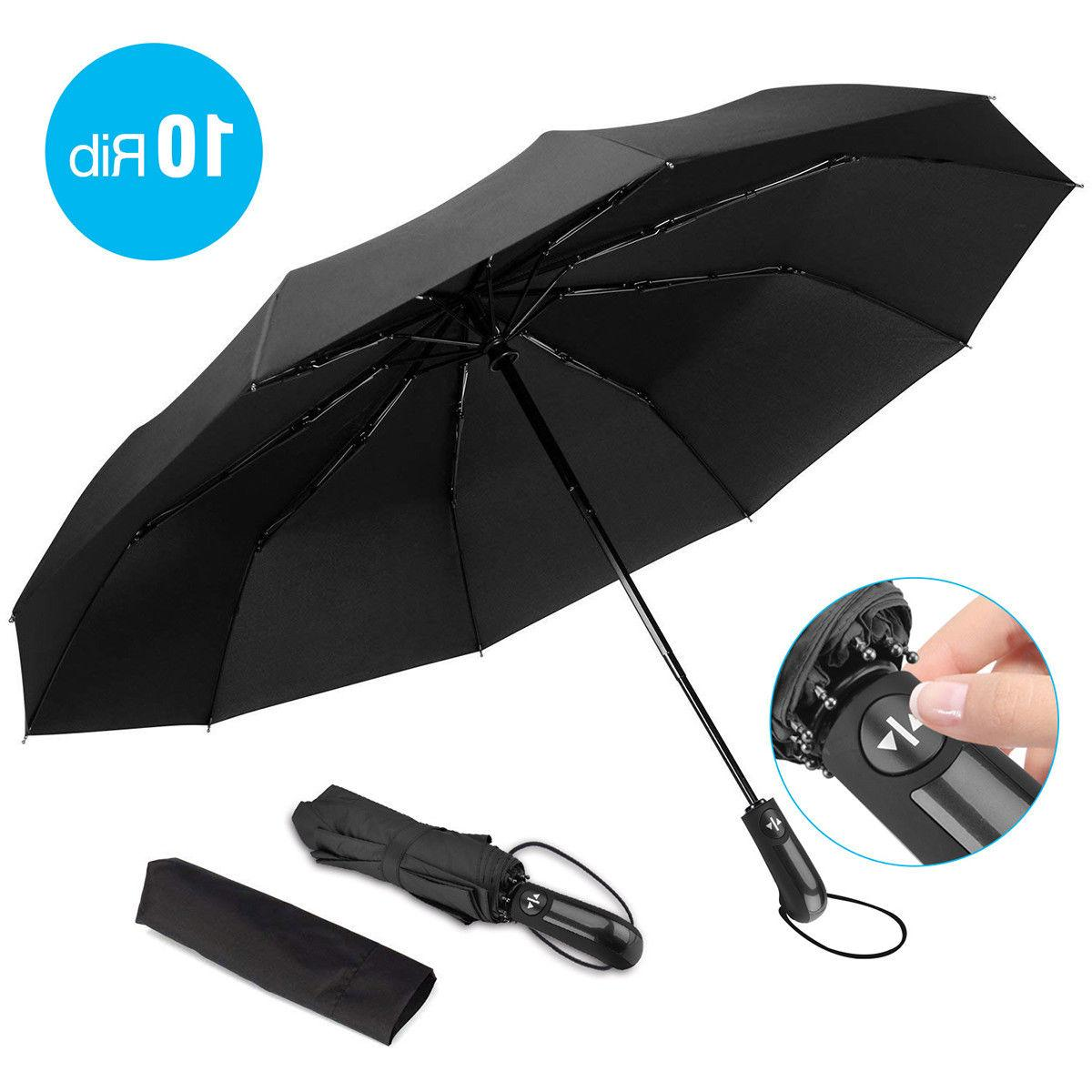 automatic compact umbrella windproof auto umbrella 3