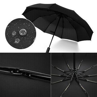 Automatic Compact Umbrella Windproof Men Women Travel