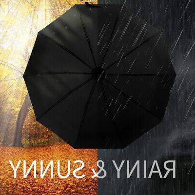 Automatic Folding Compact Windproof Travel Umbrella JA