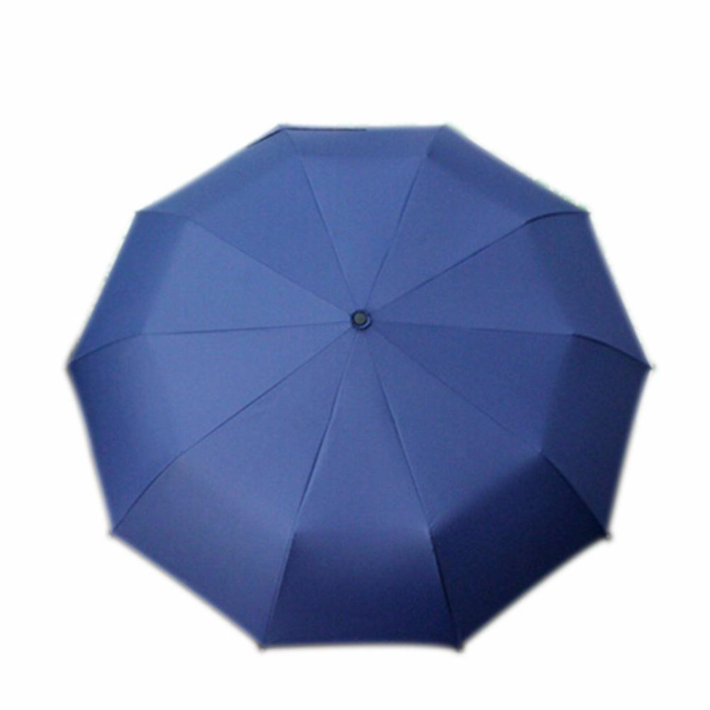 Automatic Folding Umbrella Windproof 10 Ribs Men Women